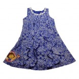 Dora The Explorer Licensed Nickelodeon Goes Tribal Blue Prints Girls Dress - Baby Girls Dress