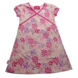 Barbie Cross Neck Design Cap Sleeve Girls Dress - Baby Girls Dress