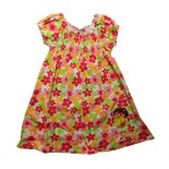 Dora Retro Inspired Floral Cap Sleeve Summer Girls Dress - Girls Dresses