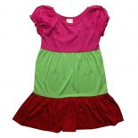 3 Tier of Colour Baby Girls Dress - Girls Dresses