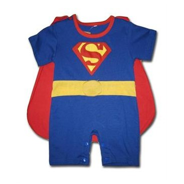 Superman 2 Pcs Outfit (Removable Cape & Half Legs)