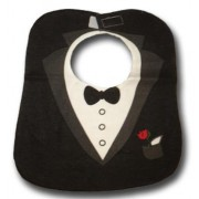 Black Tuxedo Waterproof Bib - Baby Boys Clothes