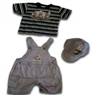 7984793d9e Shrek Overalls Boys 3 Pieces Set - Baby Boys Clothes - Adam   Eve ...