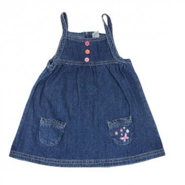Blue Jeans/Denim Dress - Baby Girls Clothes