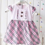Tweed Stitch Dress In Pink - Baby Girls Clothes