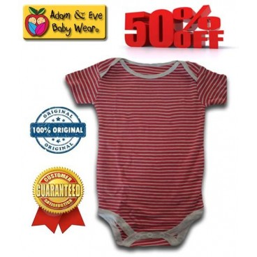 d83b18870cd0 Red Stripes Adam   Eve Baby Wear Tag Free Romper - Baby Boys Clothes ...