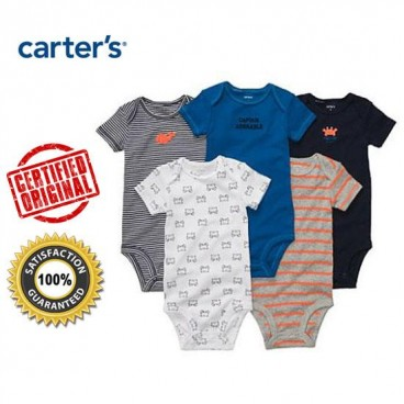 Carter Sa C Sea Creatures 5 Rompers Gift Pack Baby Boys Baby
