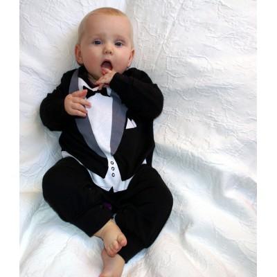 best man tuxedo 1 piece onesie romper formal wedding attire