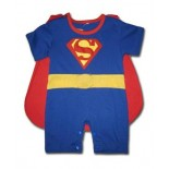 Newborn Superman 2 Pcs Outfit (Removable Cape & Half Legs)