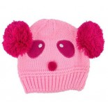 White Glow Mousey on the Crawl knitted beanie / hats - Babies Accessories