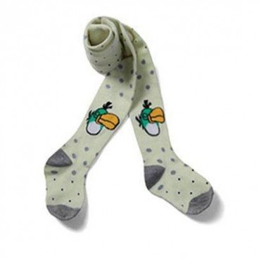 Angry Bird in Polka Dot Grey Blue Bird Stockings/leggings - Baby Boys & Girls Clothes